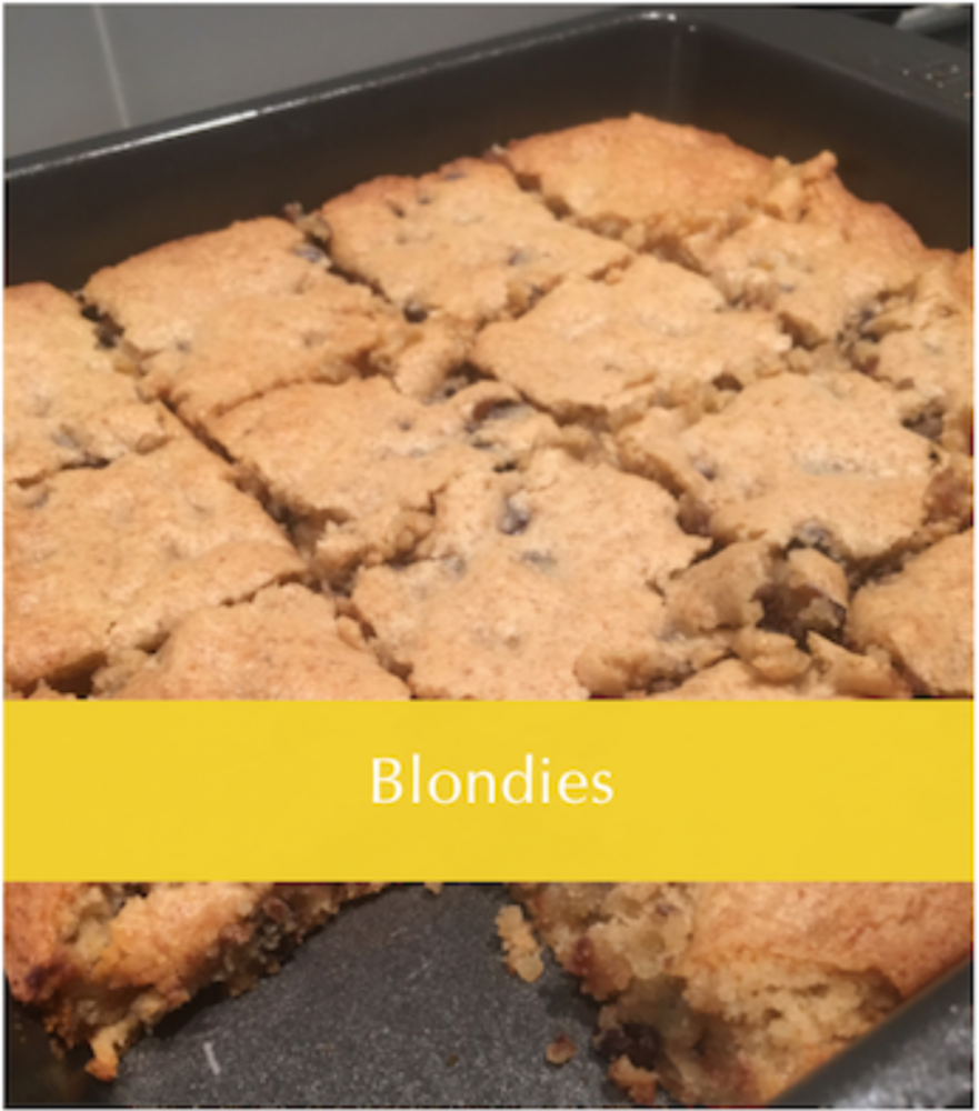 These Browned Butter Blondies with SF chocolate chips are so good!