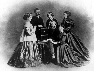 General William Giles Harding, his wife Elizabeth McGavock Harding (center), their son John Jr., daughters Selene (L), Mary (R), and cousin Lizzie (bottom R)