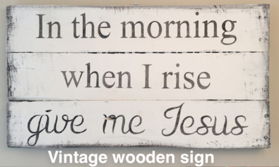 Congrats to Bonnie Franks who won a vintage sign—the same sign that hangs in my bathroom (Love this song!)