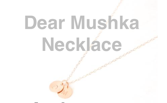 Congrats to Deanna who won a Dear Mushka necklace just like the one I wear