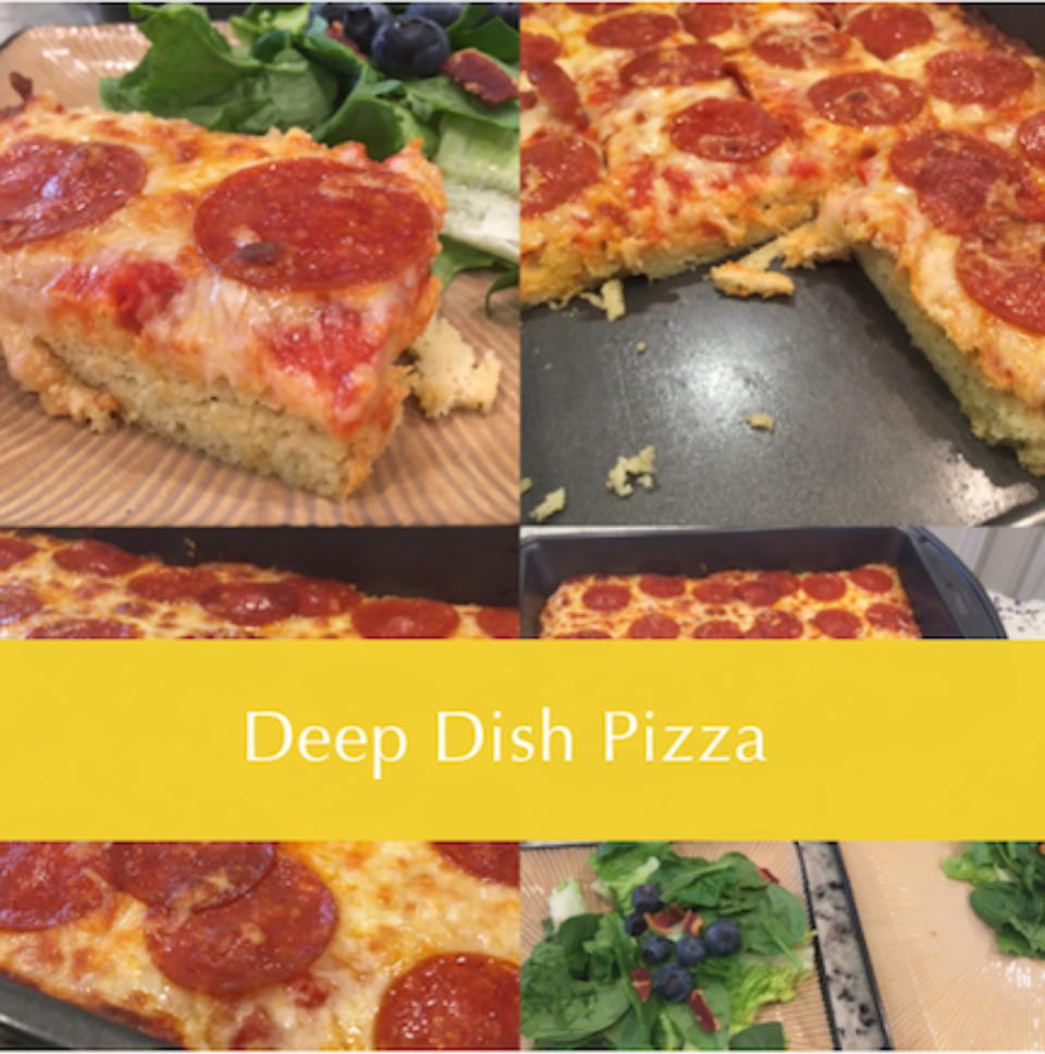 Delicious low-carb pizza!