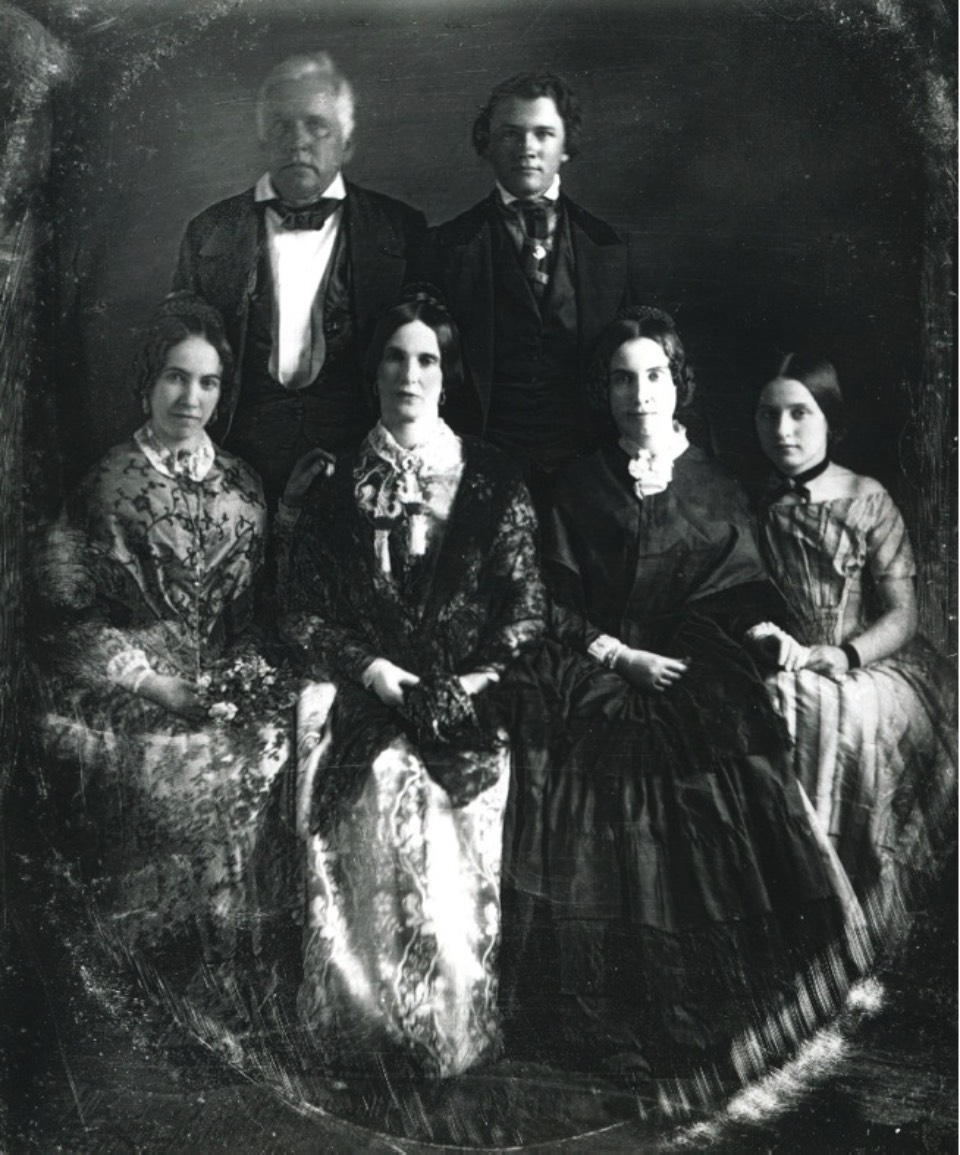 Adelicia Acklen's immediate family (Adelicia seated on far left next to her mother)