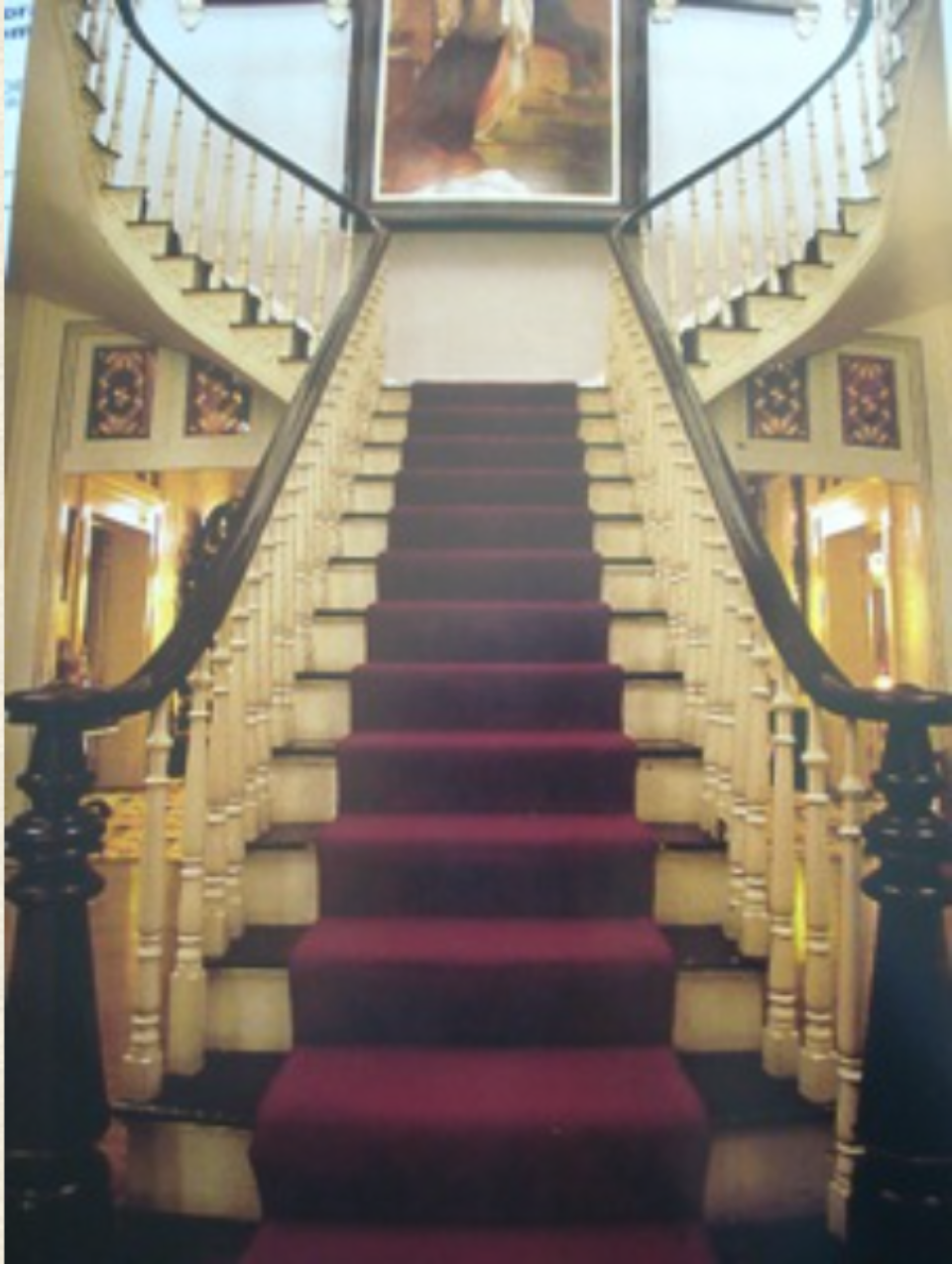 Belmont Mansion grand cantilevered staircase