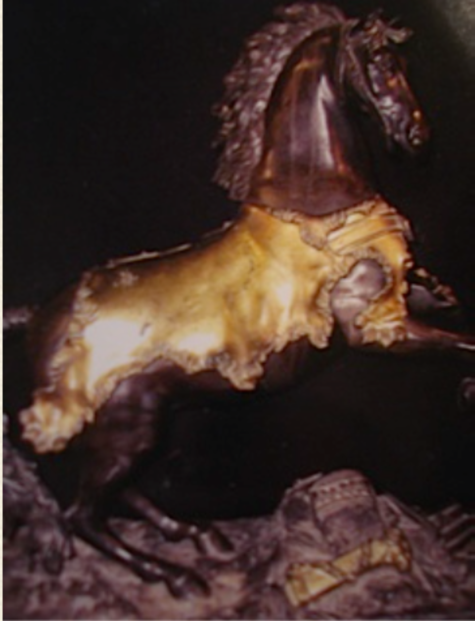 Adelicia purchased the small bronze statue of Bucephalus below, which can be seen in the small study at the Belmont Mansion.