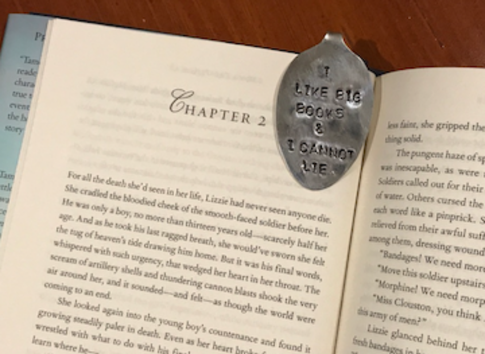 "Congrats to both Deborah Jones and Beverly Calcote who each won a cute bent spoon bookmark ""I LIKE BIG BOOKS & I CANNOT LIE"" that I bought over Christmas while in Bluffton, SC!"